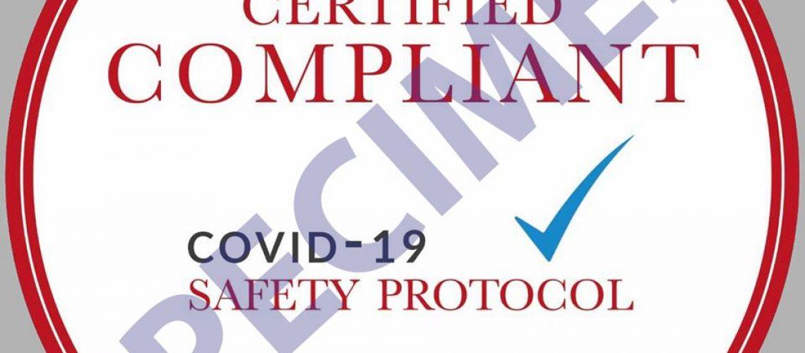 Covid-19 Compliant Sticker Specimen